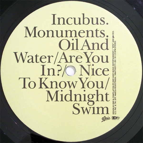 Release Monuments and Melodies by Incubus  MusicBrainz
